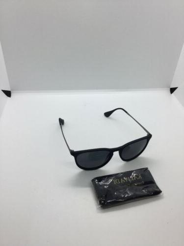 designer semi sunglasses with bag and cleaning
