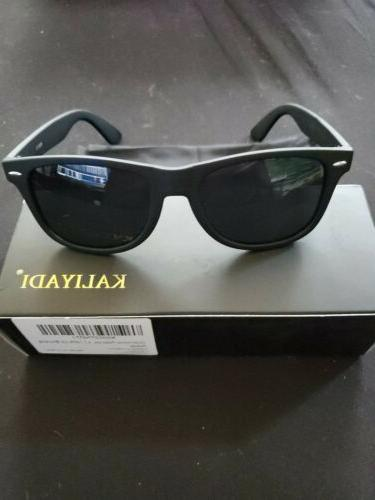 designer sunglasses with bag and cleaning cloth