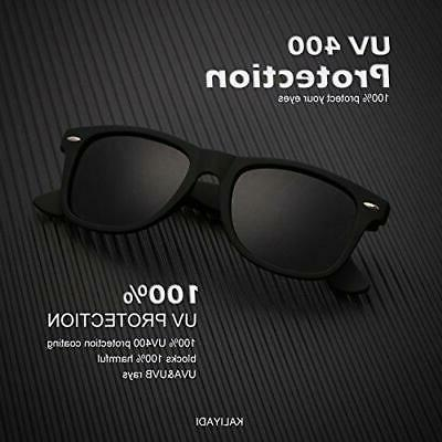 Polarized Sunglasses for Men and Black/Blue/Red